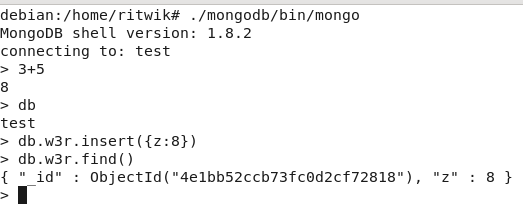 mongo-first-find-linux